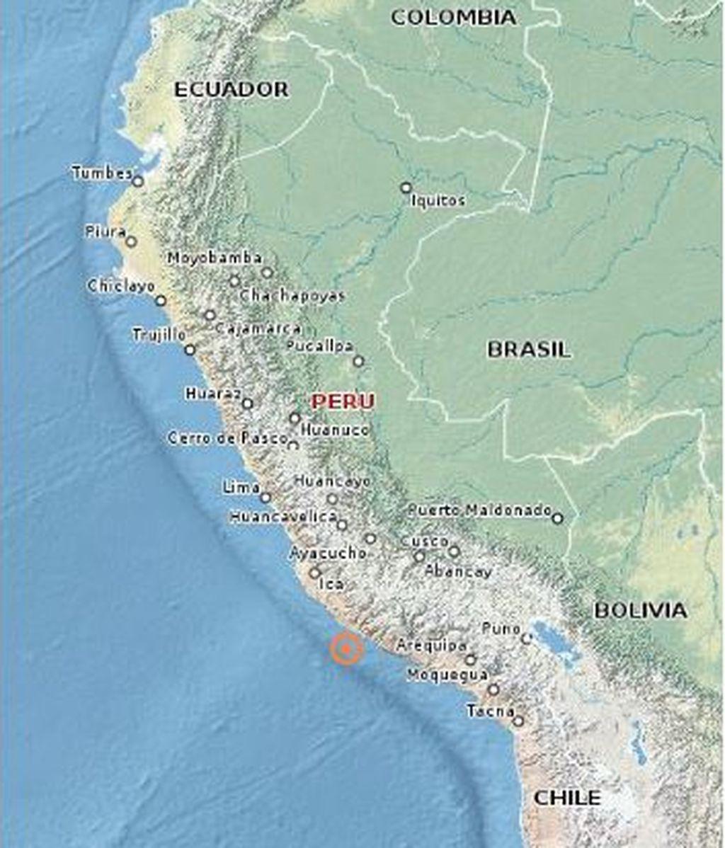 Registrado un fuerte terremoto de magnitud 7,3 en el sur de Perú sin alerta de tsunami
