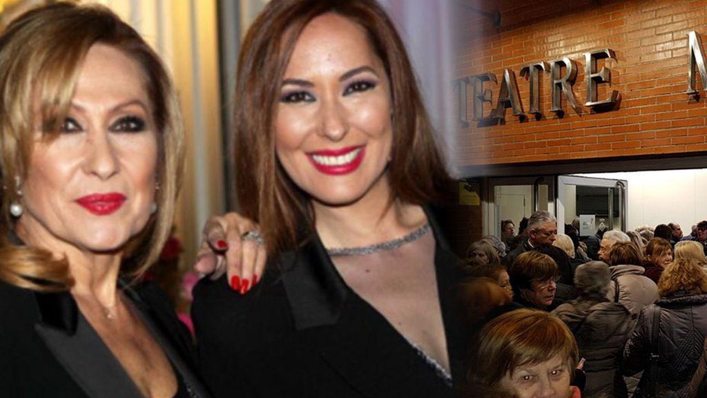 Rosa Benito vuelve a los escenarios junto a su hija: las imágenes de su lleno absoluto