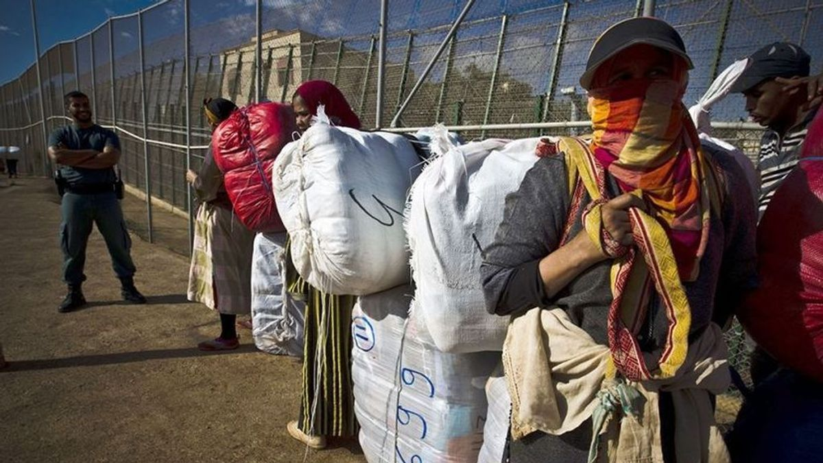 Mueren dos mujeres en una avalancha en el lado marroquí de la frontera de Ceuta