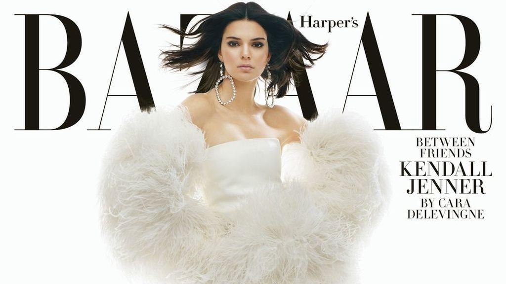 Kendall Jenner, portada de la revista 'Harper's Bazaar' en su número de febrero de 2018.