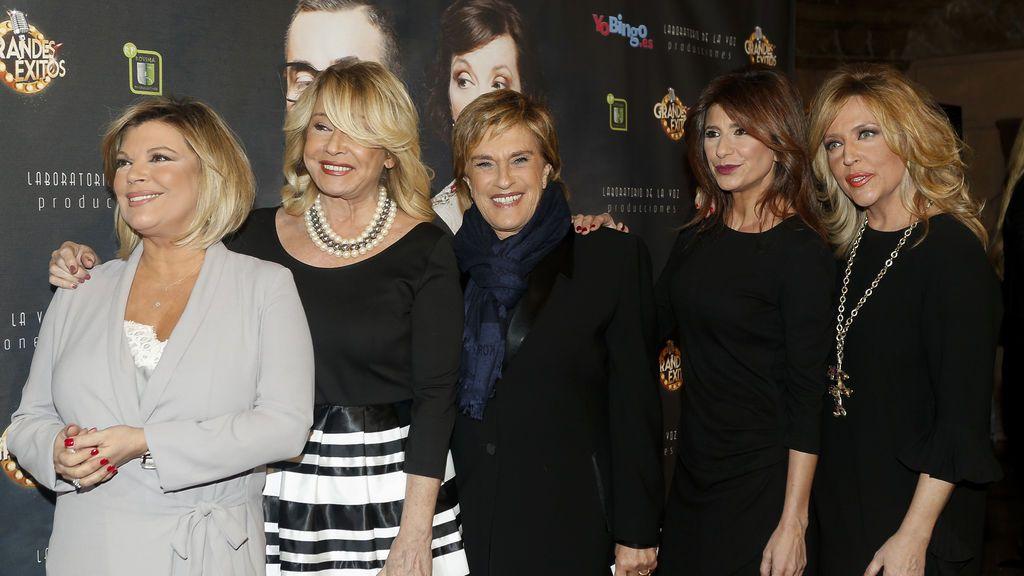 Los 'telecinqueros' apoyan el estreno del musical de Jorge Javier Vázquez