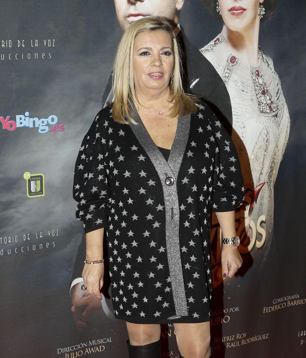 Carmen Borrego también fue una de las invitadas al estreno