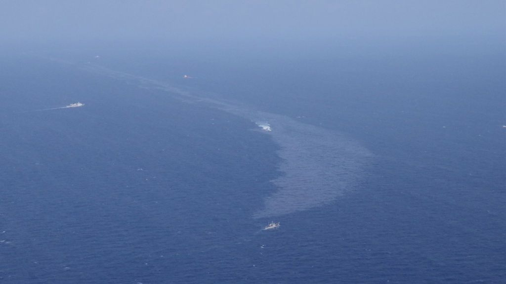 Hundimiento del petrolero Sanchi:  Manchas de crudo cubren 109 kilómetros cuadrados en el Mar de China