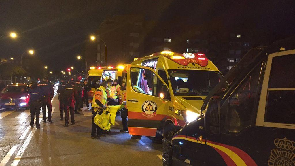 Un joven de 22 años recibe tres puñaladas en las inmediaciones del Wanda Metropolitano
