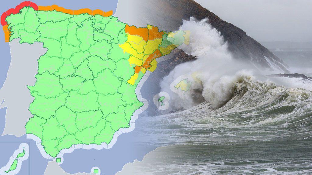 Riesgo rojo, naranja y amarillo: 22 provincias en alerta por viento y fenómenos costeros
