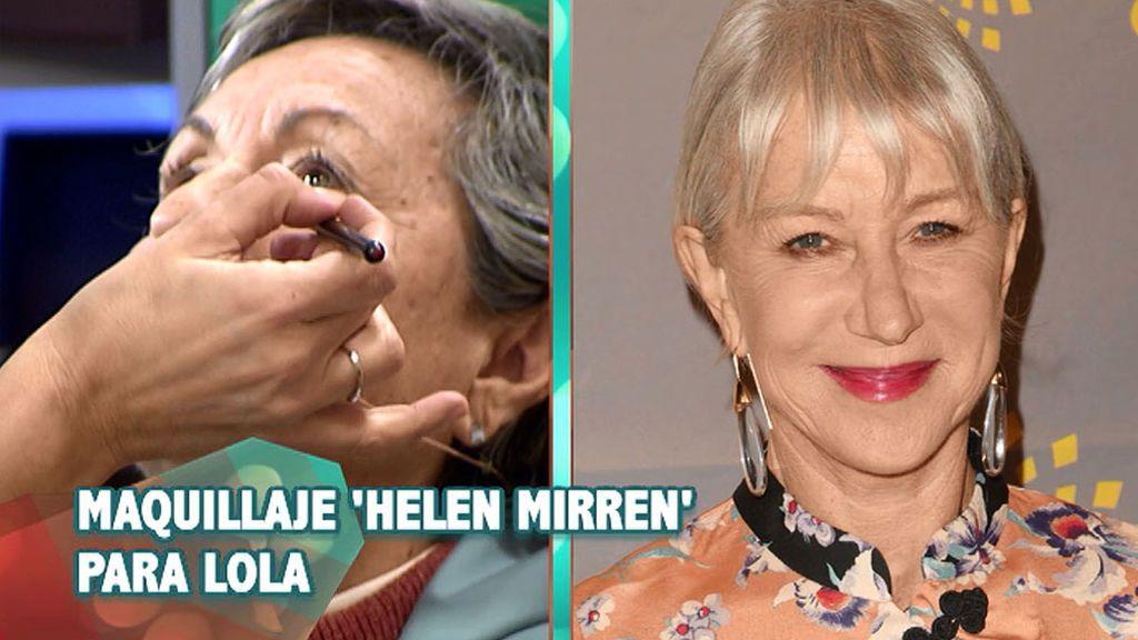 CAMBIO INSTANTÁNEO: Maquillaje a lo Helen Mirren para Lola