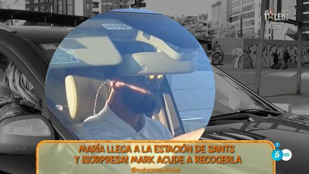 ¡Muy fuerte! María Lapiedra llega a Barcelona y Mark acude a recogerla