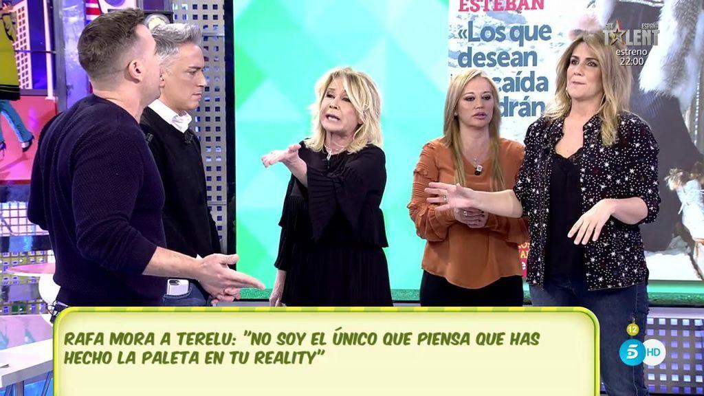 """El monumental mosqueo de Mila Ximénez con Rafa Mora: """"¡Eres un payaso!"""""""