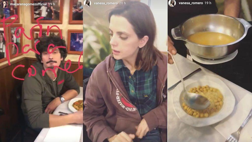 ¡Como una familia! Los actores de 'LQSA' disfrutan de un gran cocido madrileño