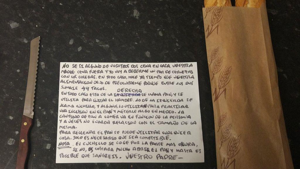 """""""Esto se llama pan y se utiliza para quitar el hambre"""": la viral carta de un padre a sus hijos"""