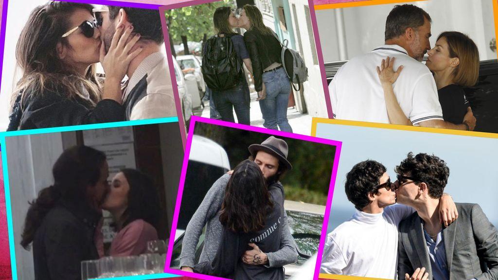 Bésame mucho: famosos que no reprimen su amor en público