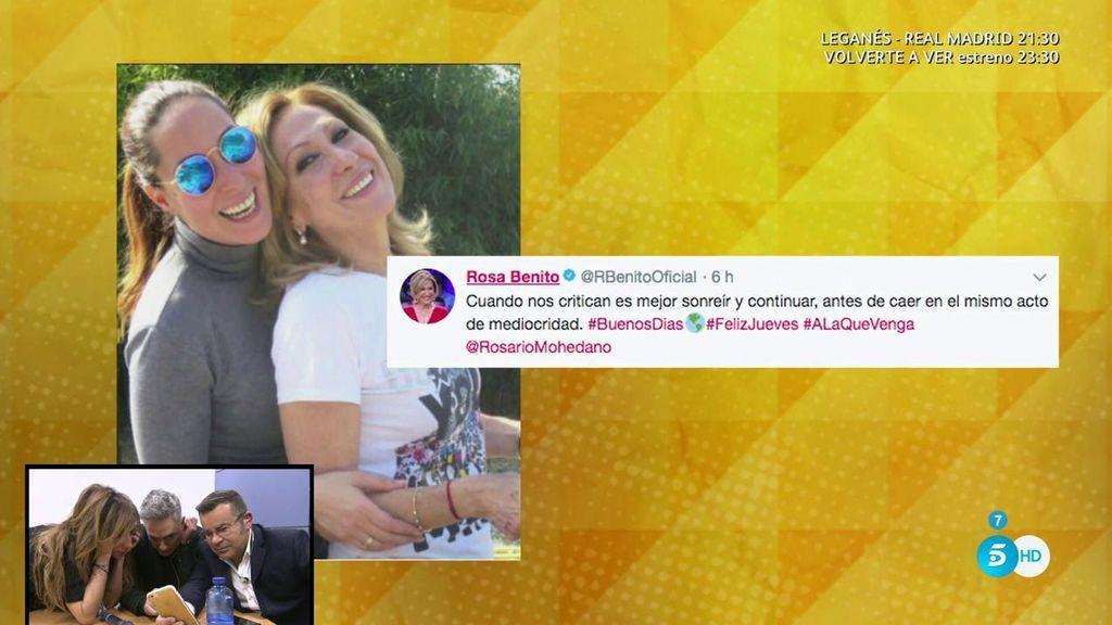 """Rosa Benito responde a las críticas en sus redes sociales: """"Es mejor sonreír que caer en la mediocridad"""""""