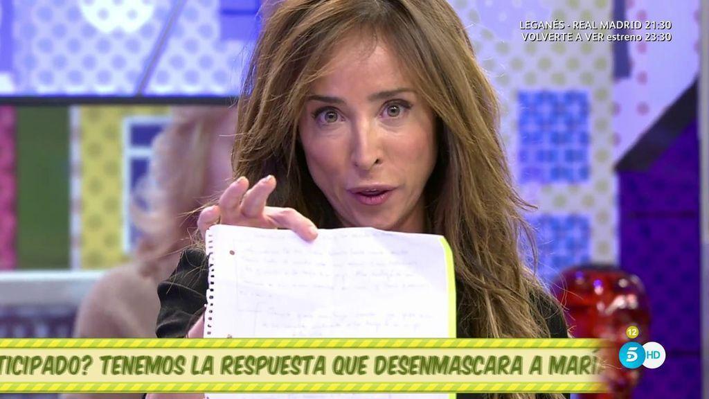 """Patiño muestra unas declaraciones de Laly Bazán en las que llama """"bruja"""" a Campanario y """"calzonazos"""" a Jesulín"""