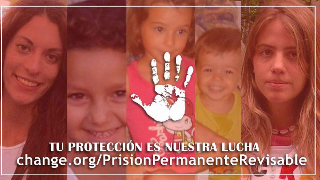 Las familias de Diana Quer, Mari Luz, Marta del Castillo y Ruth y José, contra la derogación de la prisión permanente
