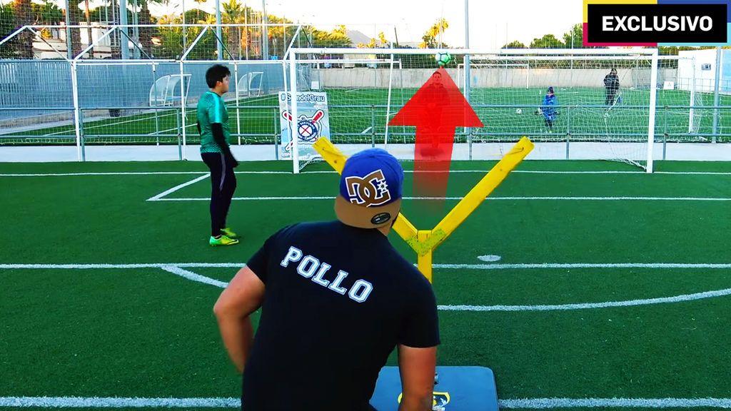 Reto fútbol: Crossbar con tirachinas gigante