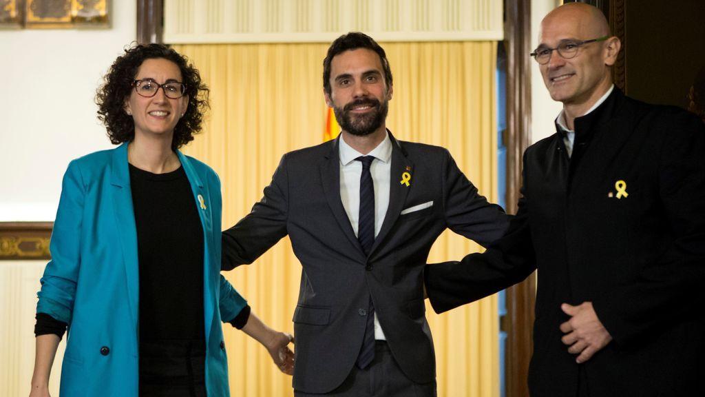 Raül Romeva, Roger torrent y Marta Rovira