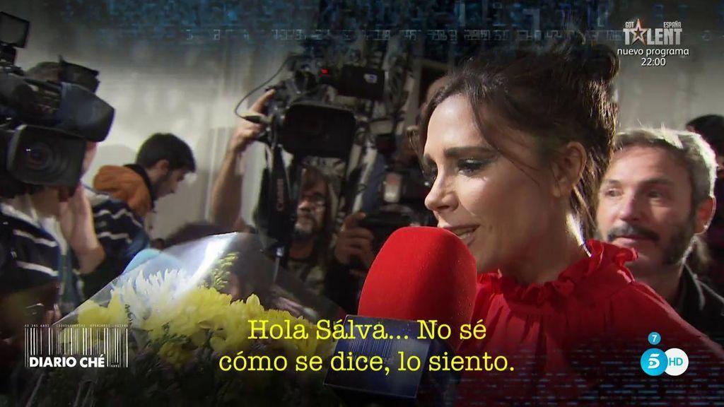 Chelo Garcia Cortés consigue que Victoria Beckham mande un saludo a 'Sálvame'