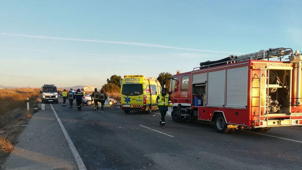 Dos fallecidos y ocho heridos en un accidente de tráfico en Murcia