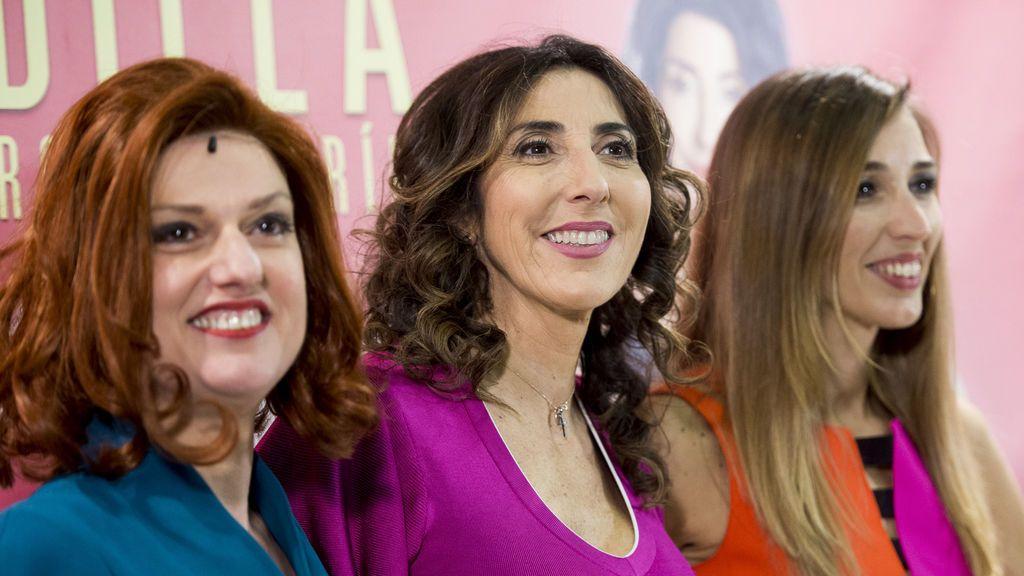 Paz Padilla, rodeada de sus seres queridos en el estreno de su nueva obra de teatro