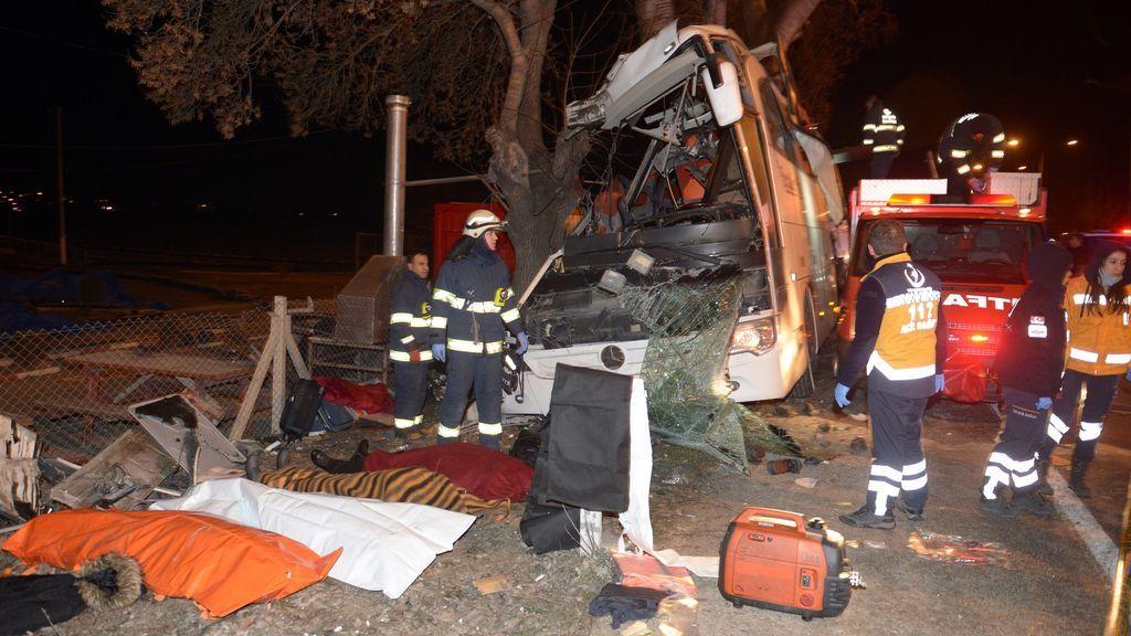 Once muertos y 44 heridos en un accidente de autobús en Turquía