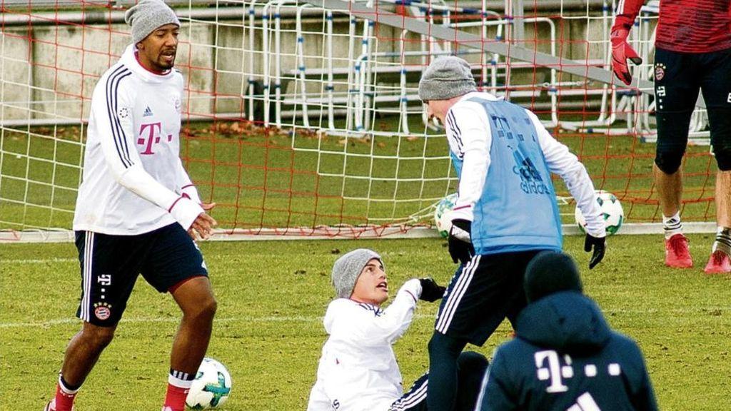 James se pelea con un compañero en el entrenamiento del Bayern de Múnich