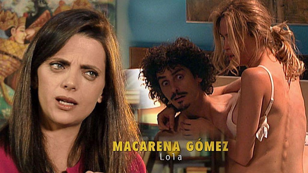 """Macarena Gómez (Lola): """"Confieso que me molesta que los guionistas líen a Javi con otras"""""""