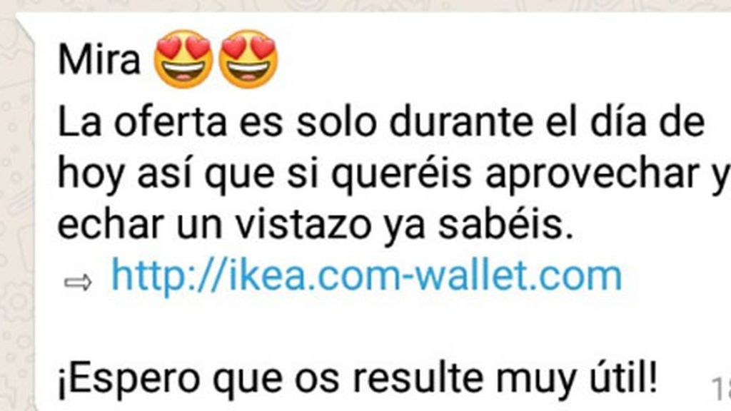 Los Mossos d'Esquadra advierten de un timo por WhatsApp con ofertas para Zara o Ikea