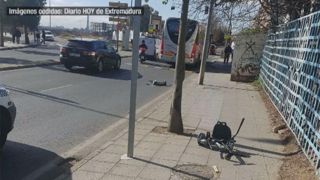 Muere un niño de cinco años atropellado por un autobús de línea en Badajoz