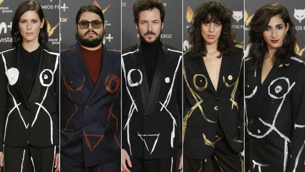El traje protesta con el que los vips han reivindicado el feminismo en los Premios Feroz