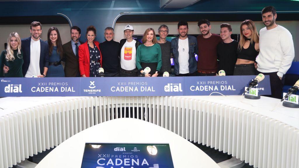 Póker de 'coaches' de 'La voz' en los Premios Dial
