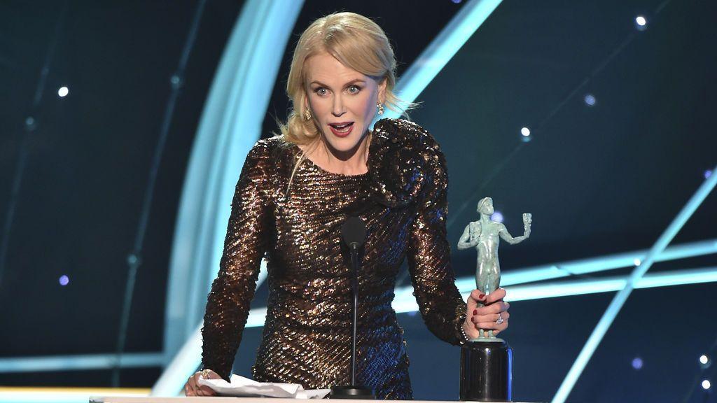 """Nicole Kidman durante la entrega de los 'SAG Awards 2018': """"Qué bonito es que nuestras carreras puedan ir más allá de los 40"""""""