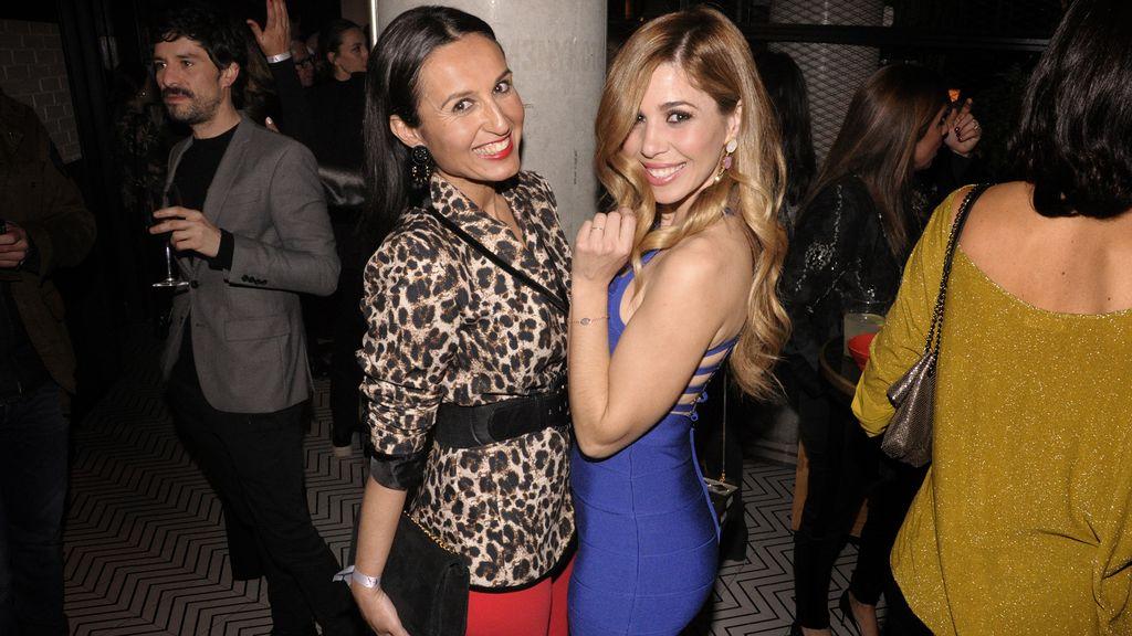 La actriz y diseñadora Rocío Miranda junto a Natalia