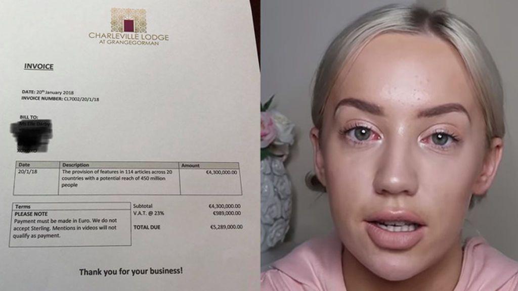Un hotel le envía una factura de más de 5 millones de euros a la 'influencer' que intentó alojarse gratis