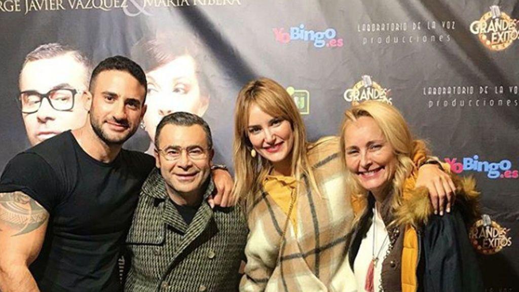 Alba Carrillo, Lucía Pariente y Eliad Cohen disfrutan de la obra de Jorge Javier Vázquez