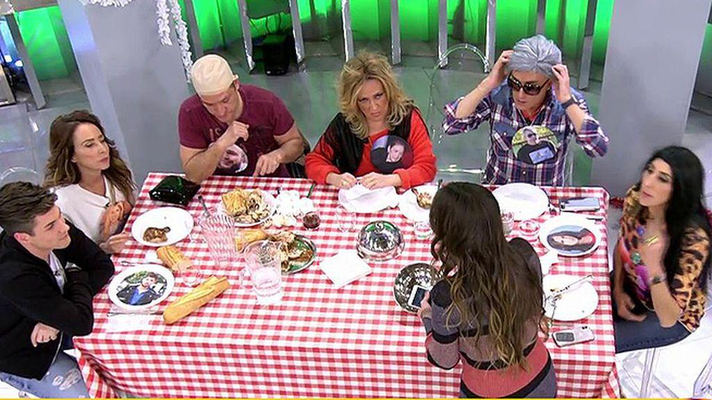 'Sálvame' parodia una comida en Cantora y Anabel Pantoja se va de plató