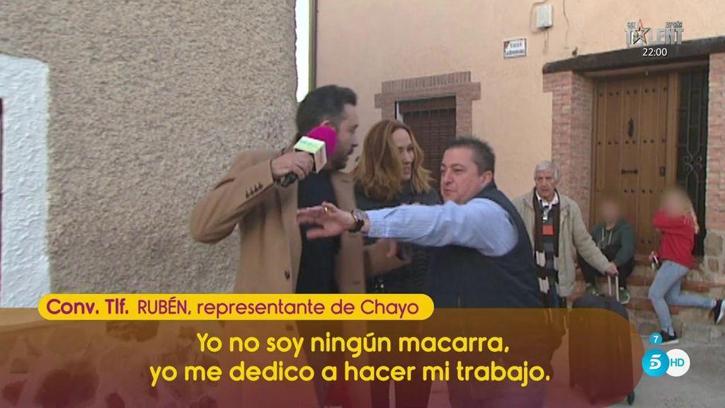 """Rubén, representante de Chayo: """"No soy ningún macarra, me dedico a hacer mi trabajo"""""""