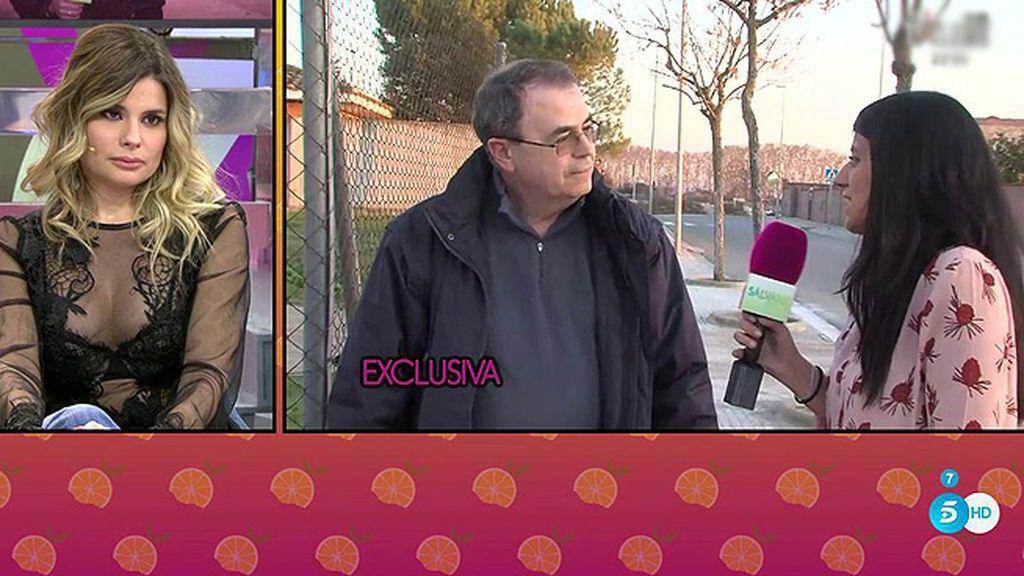 Primeras imágenes del padre de María Lapiedra tras las declaraciones de la actriz sobre su infancia