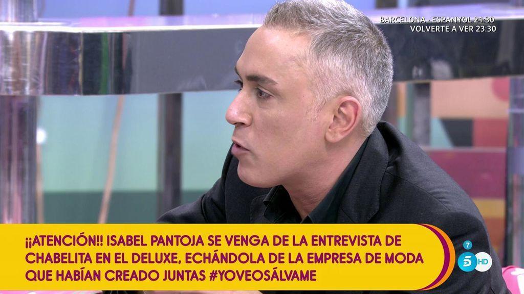 La producción de la empresa de camisetas de Isabel Pantoja y Chabelita está parada, según Kiko Hernández