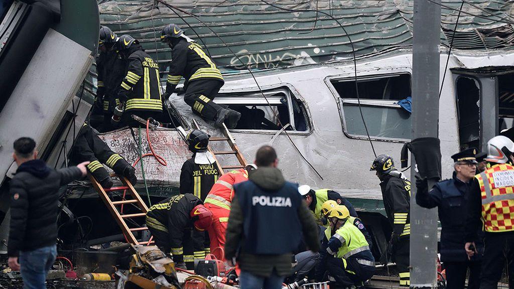 Accidente mortal de tren en Milán