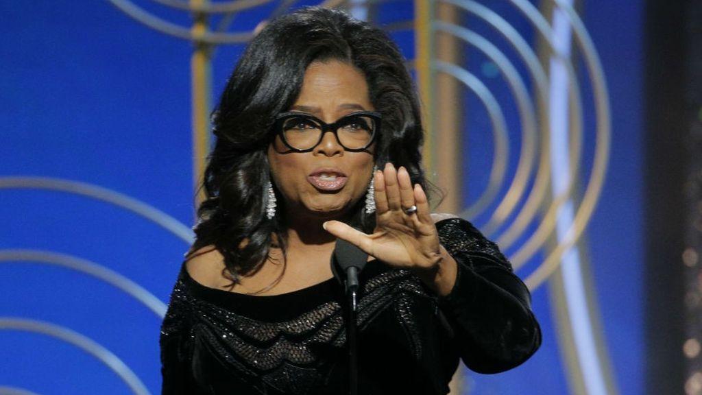 Oprah Winfrey, en la gala de los Globos de Oro 2018.