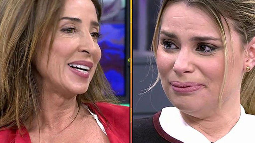 """A María Lapiedra no le gustan las preguntas de Patiño: """"No le voy a contestar porque me falta al respeto"""""""