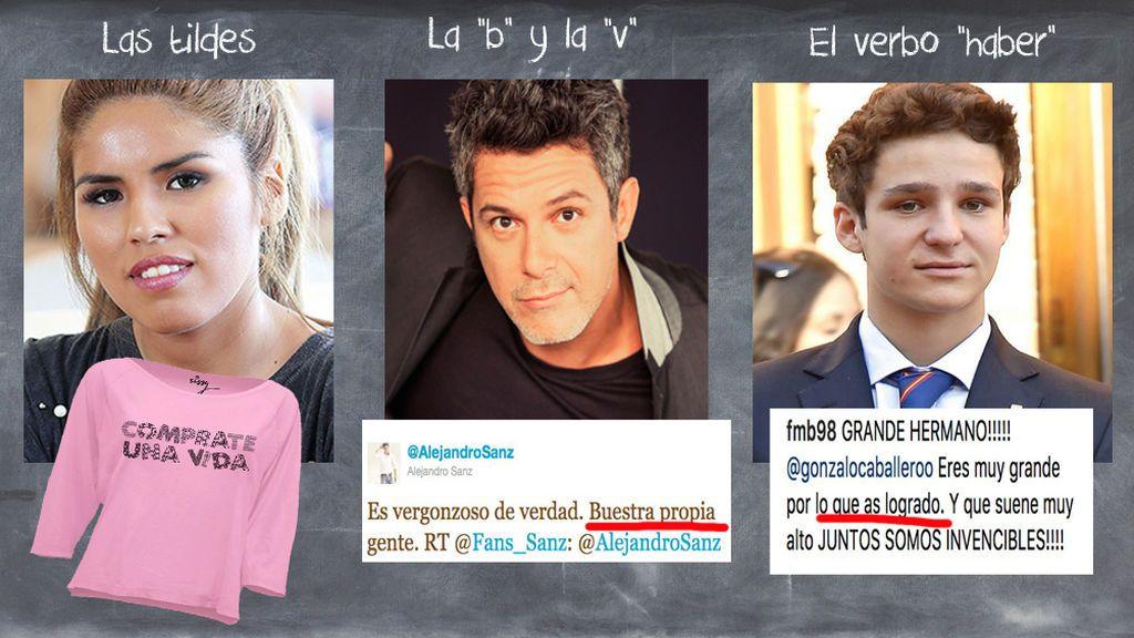 Chabelita no está sola: Otros famosos que cometen faltas de ortografía