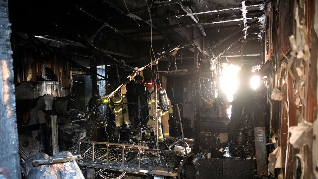 El cableado defectuoso en el hospital de Miryang podría ser la causa del incendio