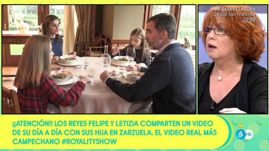 Rosa Villacastín analiza el vídeo del día a día de los Reyes y sus hijas