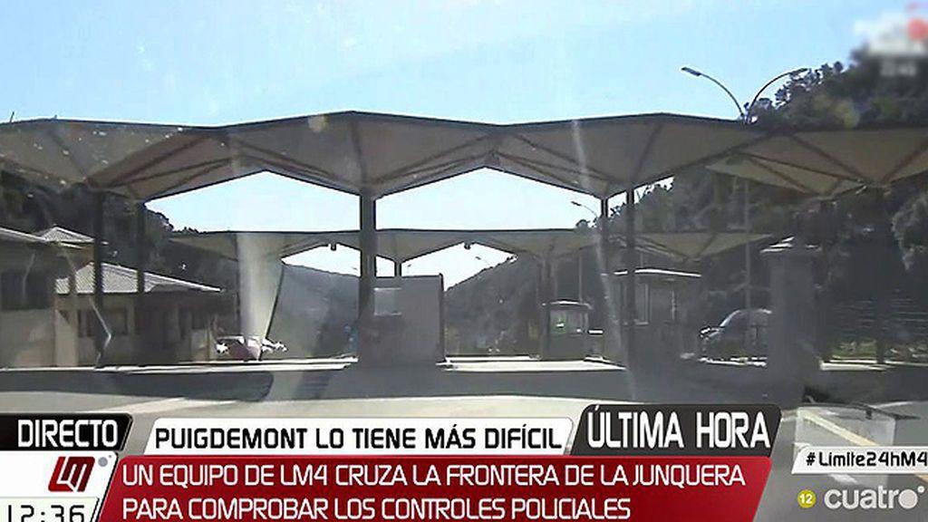 Nacho Pulido cruza una y otra vez la frontera en busca de los controles policiales ante un hipotético regreso de Puigdemont