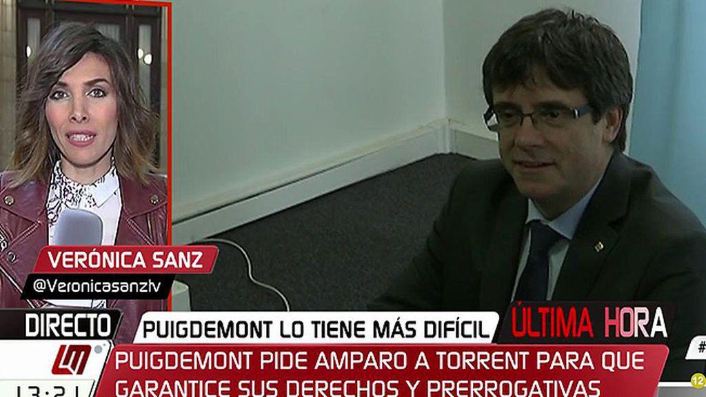 Puigdemont pide amparo a Torrrent en una carta