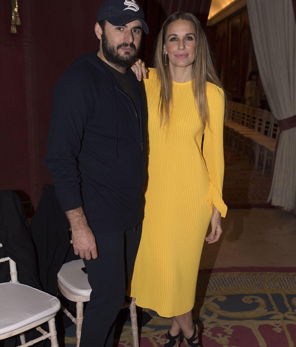 Emiliano Suarez, con la actriz Carola Baleztena