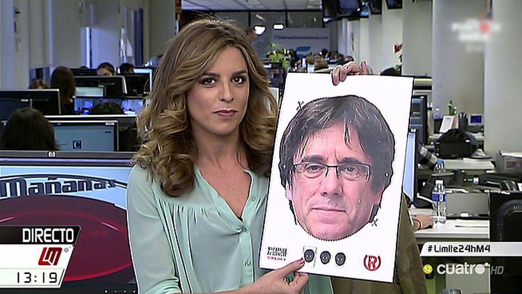 Difunden en Twitter caretas de Puigdemont con las que cubrirse y rodear el Parlament