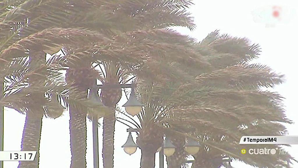 El temporal corta varias carreteras del sureste y cierra los puertos de Valencia y Sagutno
