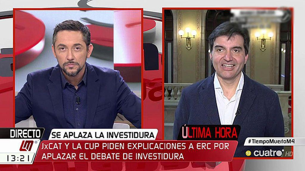 """Sabrià (ERC): """"El independentismo debería tener claro que el rival es el Estado, que quiere cambiar el resultado de las urnas"""""""